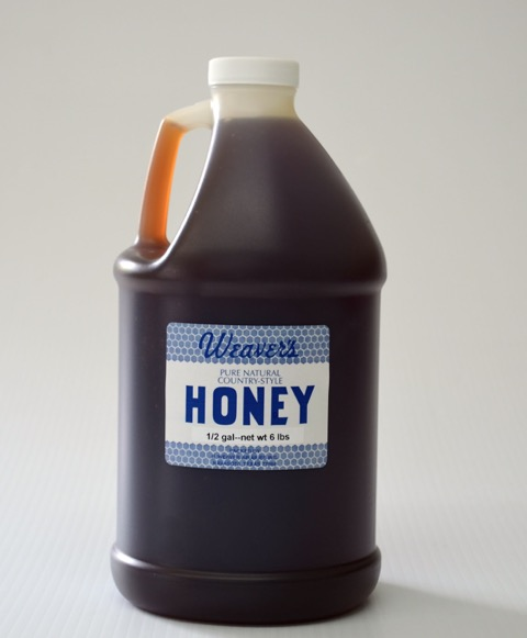 Weaver's Pure Natural Honey - Half-Gallon Jugs (Case of 6)