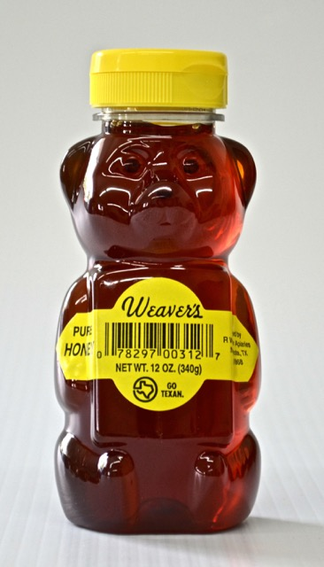 Weaver's Pure Natural Honeybears - 12 oz. (Case of 24)