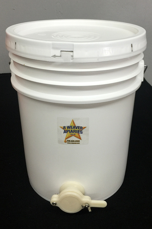 5-Gal Honey Bucket with Gate & Lid
