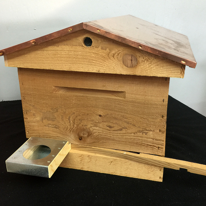 Standard Cedar Beginner's Hive Kit with Copper Hive Cover