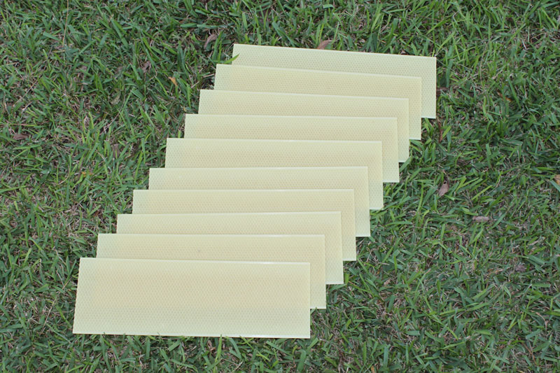"5 5/8"" Waxed Rite-Cell Foundation Sheets Natural"